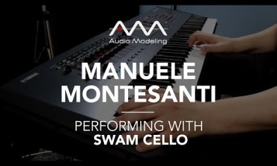 Manuele Montesanti performing with SWAM Cello