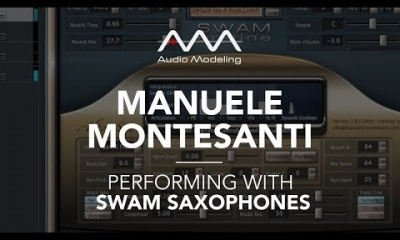 Manuele Montesanti performing with SWAM Alto Sax