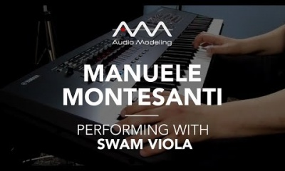 Manuele Montesanti performing with SWAM Viola