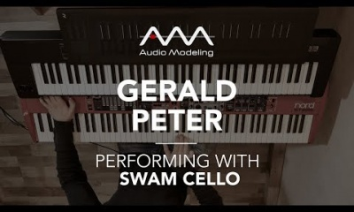 Gerald Peter performing with SWAM Cello