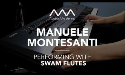 Manuele Montesanti performing with SWAM Flute